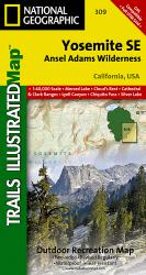 Buy map Yosemite Southeast, Ansel Adams Wilderness, Map 309 by National Geographic Maps from California Maps Store