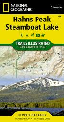 Buy map Hahns Peak and Steamboat Lake, Map 116 by National Geographic Maps from Colorado Maps Store