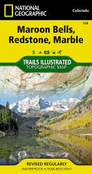 Buy map Maroon Bells, Redstone and Marble, Colorado, Map 128 by National Geographic Maps from Colorado Maps Store