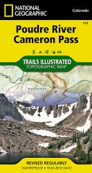 Buy map Poudre River and Cameron Pass, Colorado, Map 112 by National Geographic Maps from Colorado Maps Store
