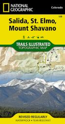 Buy map Salida, St. Elmo and Mount Shavano, Colorado, Map 130 by National Geographic Maps