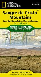 Buy map Sangre De Cristo Mountains and Great Sand Dunes National Park, Map 138 by National Geographic Maps from Colorado Maps Store