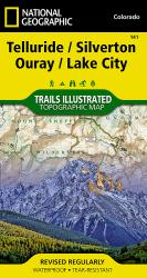 Buy map Telluride, Silverton, Ouray and Lake City, Colorado, Map 141 by National Geographic Maps from Colorado Maps Store