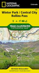 Buy map Winter Park, Central City and Rollins Pass, Colorado, Map 103 by National Geographic Maps from Colorado Maps Store