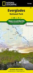 Buy map Everglades National Park, Map 243 by National Geographic Maps