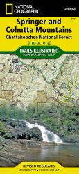 Buy map Springer and Cohutta Mountains, Map 777 by National Geographic Maps from Georgia Maps Store