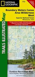 Buy map Boundary Waters Canoe Area Wilderness, West, MN, Map 753 by National Geographic Maps from Minnesota Maps Store