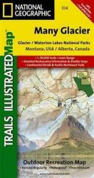 Buy map Glacier National Park, Many Glacier, Map 314 by National Geographic Maps