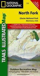 Buy map Glacier National Park, North Fork, Map 313 by National Geographic Maps