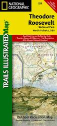 Buy map Theodore Roosevelt National Park, Maah Daah Hey Trail, Map 259 by National Geographic Maps from North Dakota Maps Store