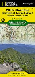Buy map Franconia Notch, Lincon, Western White Mountains Natl Forest, Map 740 by National Geographic Maps in New Hampshire Map Store