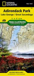 Buy map Lake George and Great Sacandaga Lake, Adirondack Park, Map 743 by National Geographic Maps