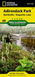 Buy map Adirondack Park, Northville and Raquette Lake, Map 744 by National Geographic Maps from New York Maps Store