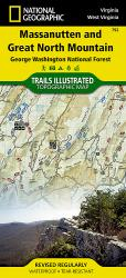 Buy map Massanutten and Great Northern Mountains, Virginia by National Geographic Maps from Virginia Maps Store