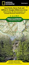 Buy map Goat Rocks and Norse Peak Wilderness Area, Map 823 by National Geographic Maps from Washington Maps Store