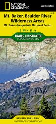 Buy map Mount Baker and Boulder River Wilderness Areas, Map 826 by National Geographic Maps from Washington Maps Store