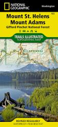 Buy map Mount St. Helens and Mount Adams, Map 822 by National Geographic Maps from Washington Maps Store