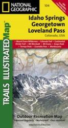 Buy map Idaho Springs, Georgetown and Loveland Pass, Colorado, Map 104 by National Geographic Maps from Colorado Maps Store