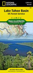 Buy map Lake Tahoe Basin, Map 803 by National Geographic Maps from United States Maps Store