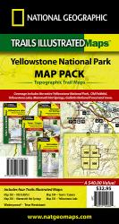 Buy map Yellowstone National Park, Sectional Map Pack Bundle by National Geographic Maps from United States Maps Store