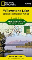 Buy map Yellowstone Southeast, Yellowstone Lake by National Geographic Maps from Wyoming Maps Store