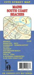 Buy map Maine, South Coast Beaches including Biddeford, Saco, York and Kennbunkport by GM Johnson from Maine Maps Store