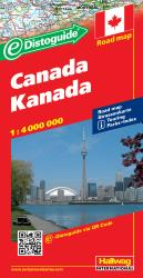 Buy map Canada with Distoguide by Hallwag from Canada Maps Store