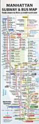 Buy map Compact Manhattan Subway and Bus Map by Tauranac Press from New York Maps Store
