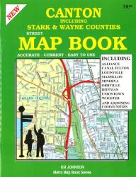 Buy map Canton, Ohio and Vicinity, Atlas by GM Johnson from Ohio Maps Store