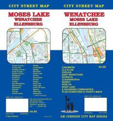 Buy map Wenatchee, Moses Lake and Ellensburg, Washington by GM Johnson from Washington Maps Store