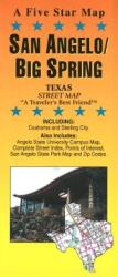 Buy map San Angelo and Big Spring, Texas by Five Star Maps, Inc. from Texas Maps Store