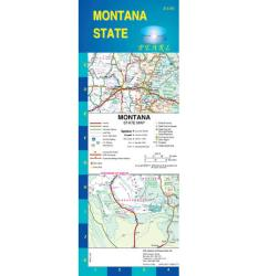Buy map Montana, Pearl Map, laminated by GM Johnson from Montana Maps Store
