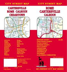 Buy map Rome, Cartersville and Calhoun, Georgia by GM Johnson from Georgia Maps Store