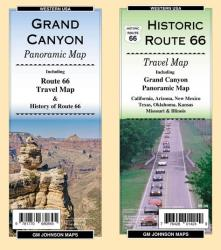 Buy map Grand Canyon Panoramic / Route 66 Travel Map by GM Johnson
