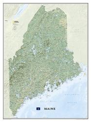 Buy map Maine, Tubed by National Geographic Maps