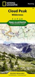 Buy map Cloud Peak Wilderness, Wyoming, Map 720 by National Geographic Maps from Wyoming Maps Store
