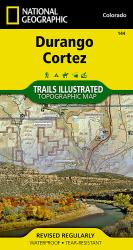 Buy map Durango and Cortez, Colorado, Map 144 by National Geographic Maps from Colorado Maps Store