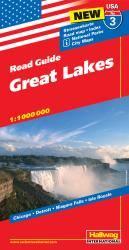 Buy map USA 3: Great Lakes by Hallwag from United States Maps Store