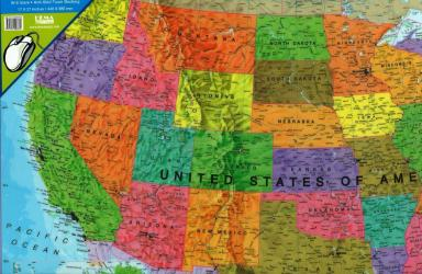 Buy map United States, Political, Desk Pad by Maps International Ltd. from United States Maps Store