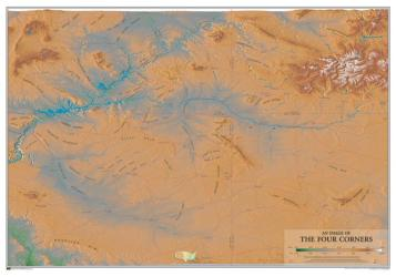 Buy map Four Corners by Time Traveler Maps from United States Maps Store