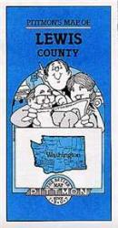 Buy map Lewis County, Washington by Pittmon Map Company from Washington Maps Store