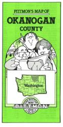 Buy map Okanogan County, Washington by Pittmon Map Company from Washington Maps Store