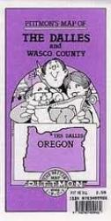 Buy map The Dalles and Wasco County, Oregon by Pittmon Map Company from Oregon Maps Store