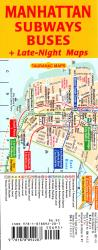 Buy map Manhattan Subways and Buses by Tauranac Press from New York Maps Store