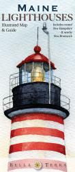 Buy map Maine Lighthouses Map by Bella Terra Publishing LLC from Maine Maps Store