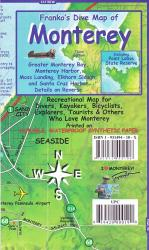 Buy map California Map, Monterey Bay Guide and Dive, laminated, 2011 by Frankos Maps Ltd.