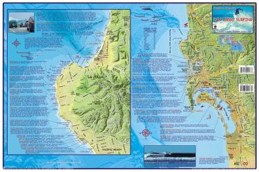 Buy map California Map, San Diego Surfing, laminated, 2007 by Frankos Maps Ltd.