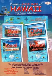 Buy map Hawaii Trip Planner Value Pack : Guide Maps of Maui, Oahi, Kauai, and Hawaii, + Reef Creatues Guide card by Frankos Maps Ltd.