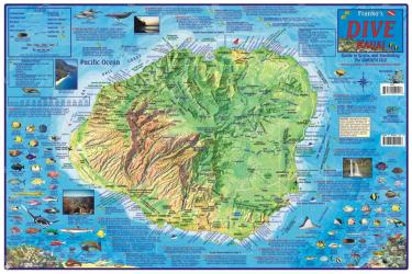 Buy map Hawaii Map, Kauai Dive Map, laminated, 2011 by Frankos Maps Ltd.