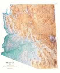 Buy map Arizona, Physical by Raven Press from Arizona Maps Store